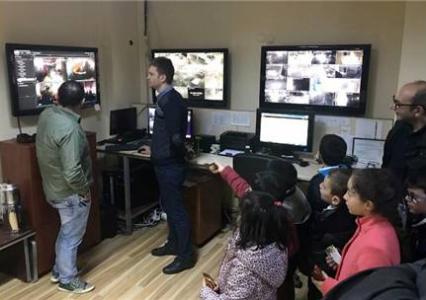 Minik Öğrencilerden Sultanbeyli İlçe Emniyet Müdürlüğüne Taziye Ziyareti