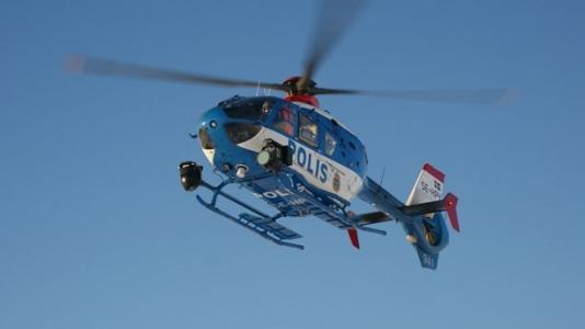 Sultanbeyli'de Helikopter Destekli Asayiş Uygulaması