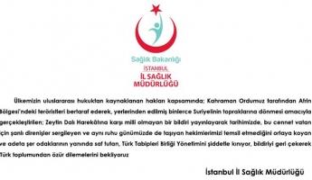 Sultanbeyli Devlet Hastanesi'nden Kınama Mesajı