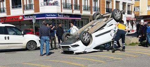 Adil Mahallesi'nde Taklalı Kaza