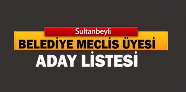 Sultanbeyli Partilere Göre Belediye Meclis Üyesi Aday Listeleri