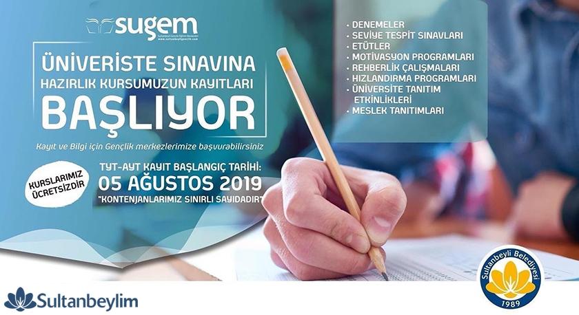 Sultanbeyli Ücretsiz Üniversite Hazırlık Kursu Kayıtları Başladı