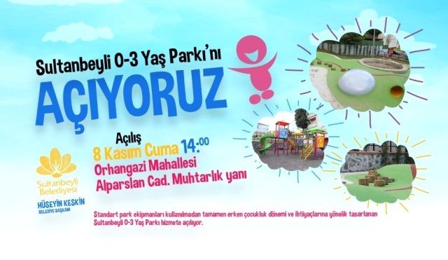 Sultanbeyli'de Miniklere Özel Park