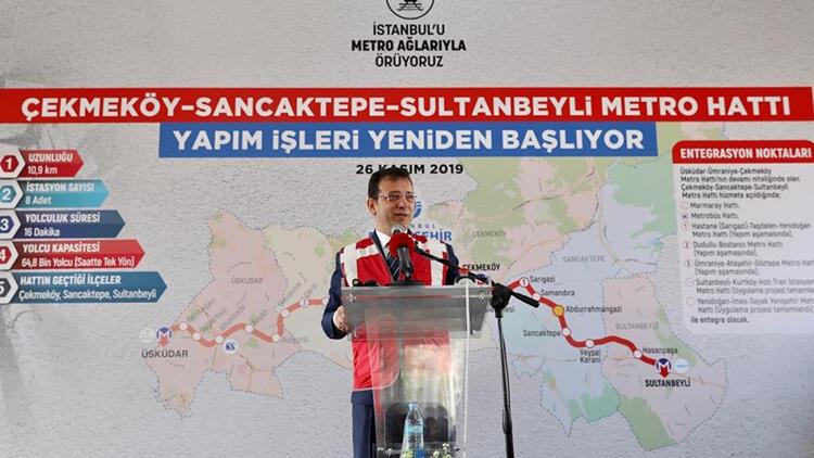 Sultanbeyli Metrosu Çalışmaları Tekrar Başladı