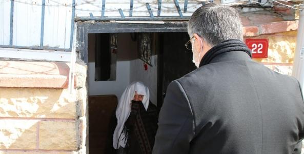 Yalnız Yaşayan Yaşlıların Evleri Dezenfekte Edildi