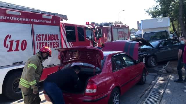 Sultanbeyli'deki Trafik Kazasında 1 Kişi Yaralandı